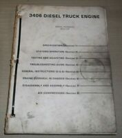 CAT CATERPILLAR 3406 TRUCK ENGINE SERVICE SHOP REPAIR BOOK MANUAL S/N 92U