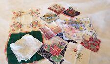 Lot Of 11 Vintage Hankies Handkerchiefs