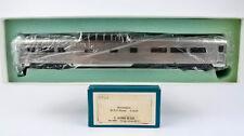 S.SOHO HO SCALE BRASS #1333 BURLINGTON DOME COACH (PLATED) -BLUE BOX