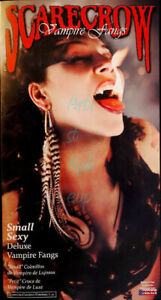 Small/Sexy Deluxe Vampire Fangs/Teeth Scarecrow® - Halloween/Theater/Special FX