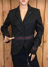 Eighth Sin Women's Three-Snaps Pink Trim Blazer Lined Jacket Size Small