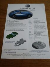 Proteus coches Limitada C Tipo Coupe Kit Car folleto de ventas' '/Hoja Década de 2000???