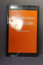 "COPY OF ""AN INTRODUCTION TO ROMAN LAW,"" BY BARRY NICHOLAS IN EXCELLENT CONDITION"