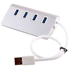 4 Port USB 3.0 Multi HUB Splitter Aluminum Adapter High Speed For PC Laptop Mac