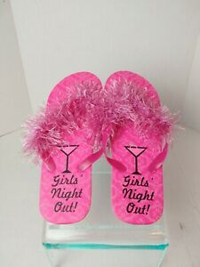 Girls Pink Night Out Thong Sandals.   Size 7-8.             A10