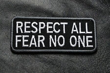 RESPECT ALL FEAR NONE TACTICAL MORALE HOOK LOOP MORALE PATCH
