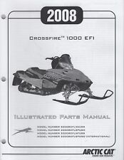 2008 ARCTIC CAT CROSSFIRE 1000 EFI  SNOWMOBILE PARTS MANUAL  2257-993  (945)