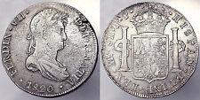 8 REALES 1820 FERDINANDO VII PERU Lima ARGENTO SILVER #4286A