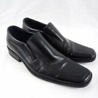 Steve Madden Loafers Men Size 10 Black Leather