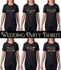 Bride Bridesmaid Wedding Party T Shirt Hen Do Ladies Party Tshirt Tops Gift