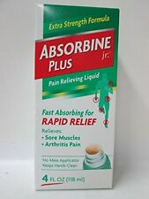 Absorbine Jr. Plus Extra Strength Pain Relieving Liquid 4 oz