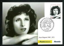 Anna Magnani - Cartolina Filatelica Ufficiale Poste Italiane