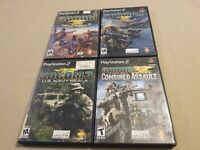 Lot Of 4 PS2 (Playstation 2) Socom Navy Seal 1, 2, 3, And Combined Assault