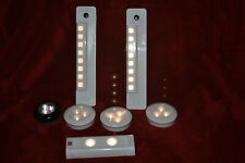 Led Puck Lights & Stick Lights, Battery Powered, selling as 1 lot