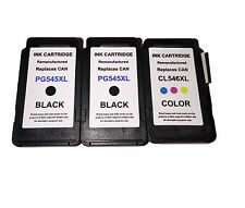 3 Ink Cartridges for Canon PG545XL CL546XL Pixma MG2450 MG2550 MG2950 MG2900