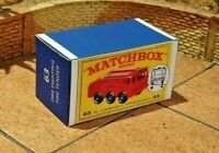 MATCHBOX 'REG.WHEELS' NO.63B ALVIS FOAMITE CRASH TENDER CUSTOM DISPLAY BOX ONLY