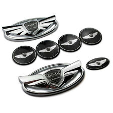 USA Seller Hyundai Genesis Coupe Silver Chrome WING Logo Emblem Set 7pcs