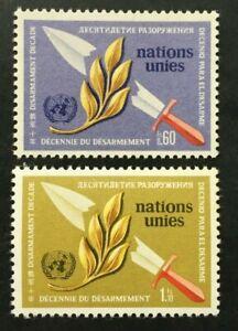 Timbre UNITE DES NATIONS GENEVE Yvert & Tellier n°30 à 31 n** Mnh (Cyn38)