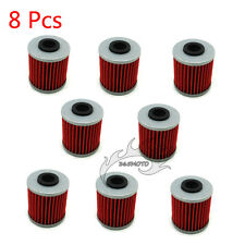 8x Oil Filter For SUZUKI RMZ450 RMZ250 KAWASAKI KX250F BETA EVO 4T 300 KX250