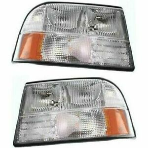 New Head Lamp Assembly Halogen Fits 1998-2005 GMC Sonoma Left & Right Side