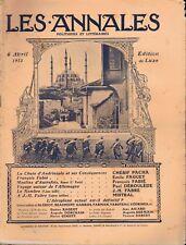 Les annales n°1554 du 06/04/1913 Andrinople Alger Aviation Athènes Fabié Depont