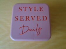 Collectable pink Style Served Daily FOSSIL watch presentation case tin, EMPTY