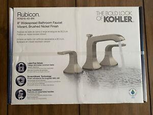 Kohler Rubicon Bath Faucet 8 in Vibrant Brushed Nickel R76216-4D-BN SEALED