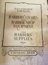 New Listing1930 Barbers' Chair, Barber Shop Equipment and Barber Shop supplies catalogue