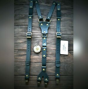 Mens Suspenders, leather Suspenders, personalized Suspender, Handmade Suspenders