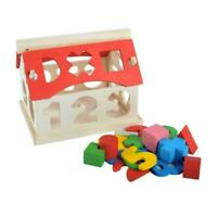 Wooden Toy Toys House Number Kids Children Educational Blocks Intellectual P4X9