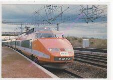 CPSM TRAIN T.G.V. PARIS SUD EST  Rame n° 100 en gare le Creusot Edt E.P.S.