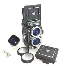 Time Slip Glico Miniature Figure Camera Rolleiflex 2.8F Silver Kaiyodo Japan