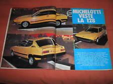 FIAT 128 PULSAR MICHELOTTI GIANNINI SU INTREPIDO 1972