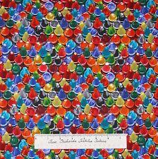 "Cool School Fabric - Packed Crayon Rainbow Kids - Benartex Kanvas Cotton 15"""