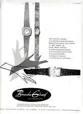 Publicité ancienne montres Bueche Girod 1965 issue de magazine