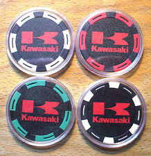 Kawasaki Poker Chip Card Guard Cover Sample Set - 4 Chips