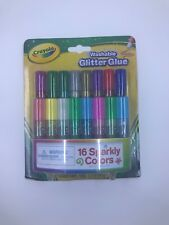 Crayola Mini Washable Glitter Glue Art Tools 16 ct 16 Sparkly Colors