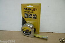 STANLEY POWERLOCK 8M 26' TAPE MEASURE 0 33 526  + 6 TREND PENCILS