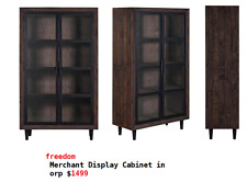 freedom Merchant Display Cabinet in orp $1499