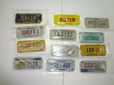Cereal License Plates from 1981  New Lot of 12