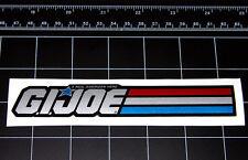 GI JOE A Real American Hero METALLIC silver decal sticker Cobra retro 80s toy
