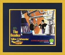 Ron Campbell Beatles Yellow Submarine Signed Lobby Card L/ED Set Custom Framed 4