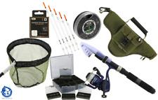 Telescopic Kids Fishing Set Rod & Reel Kit Case & Tackle Box Coarse Sea Pike