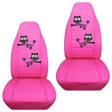 nice set owl design front Car Seat Covers pink/orange/purple... CHOOSE UR COLOR