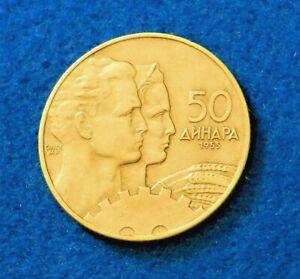 1955 Yugoslavia 50 Dinara - Fantastic Coin - See Pictures
