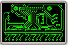 PRINTED CIRCUIT BOARD PCB GEEK FRIDGE MAGNET IMAN NEVERA