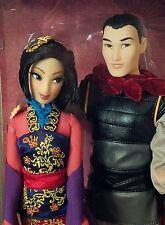 Disney Store Designer Fairytale Limited Edition Mulan and Li Shang doll set