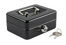 Mini Small Cash Box with Money Tray Lock Box with Key Small Safe