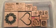 Stampin Up 2001 Sketch It Set Of 12 Wood Mounted Rubber Stamp Su Scrapbooking
