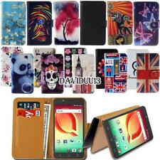 Leather Smart Stand Wallet Case Cover For Various Alcatel SmartPhones